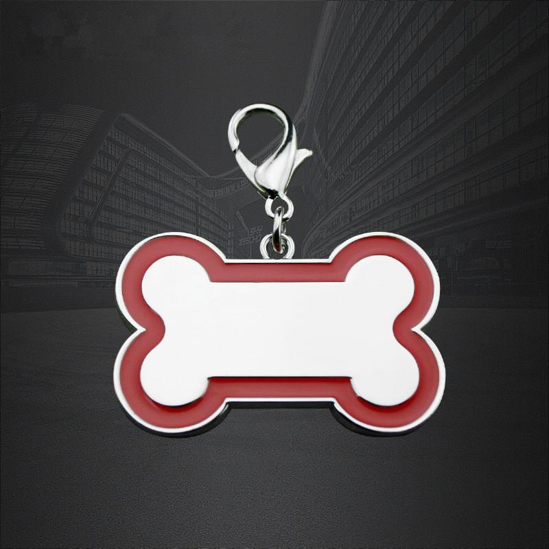 ปรับแต่งแท็กสุนัขโลหะผสมสังกะสีกระดูกแท็กสัตว์เลี้ยงออกแบบด้วยรหัส QR