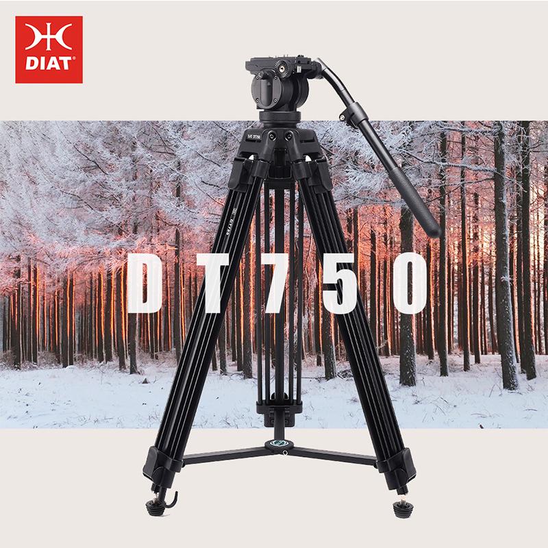 DIAT ใหม่กล้องวิดีโอ DT750 รองรับขาตั้งกล้องสามส่วน 1.7 เมตรสูง DSLR ขาตั้งกล้องหนัก