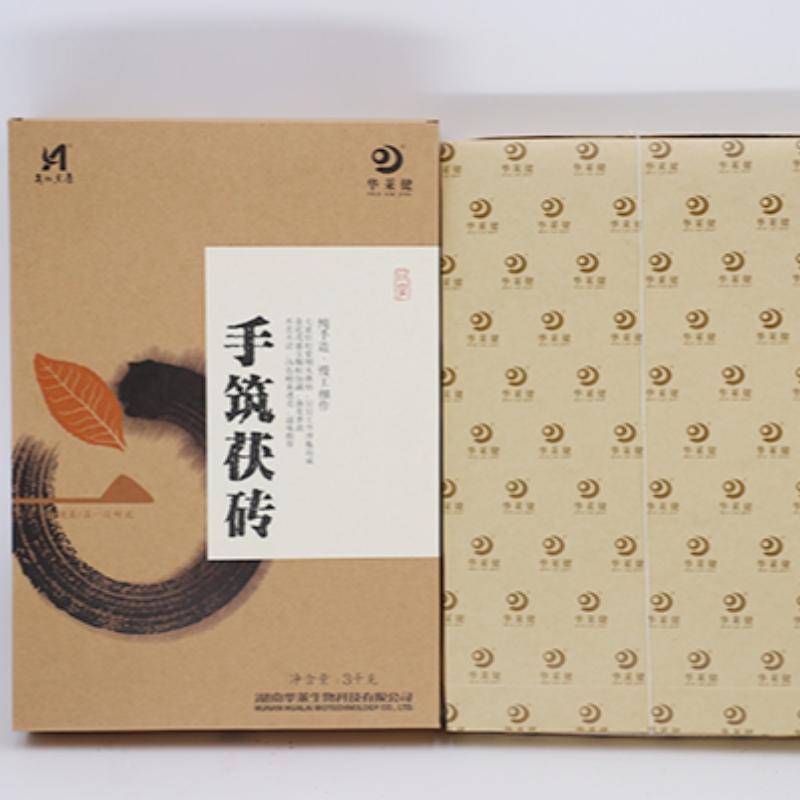 ผลิตด้วยมือมณฑลหูหนาน anhua ชาดำการดูแลสุขภาพชา