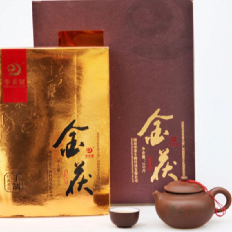 2000 กรัมทอง fuzhuan มณฑลหูหนาน anhua ชาดำชาการดูแลสุขภาพ