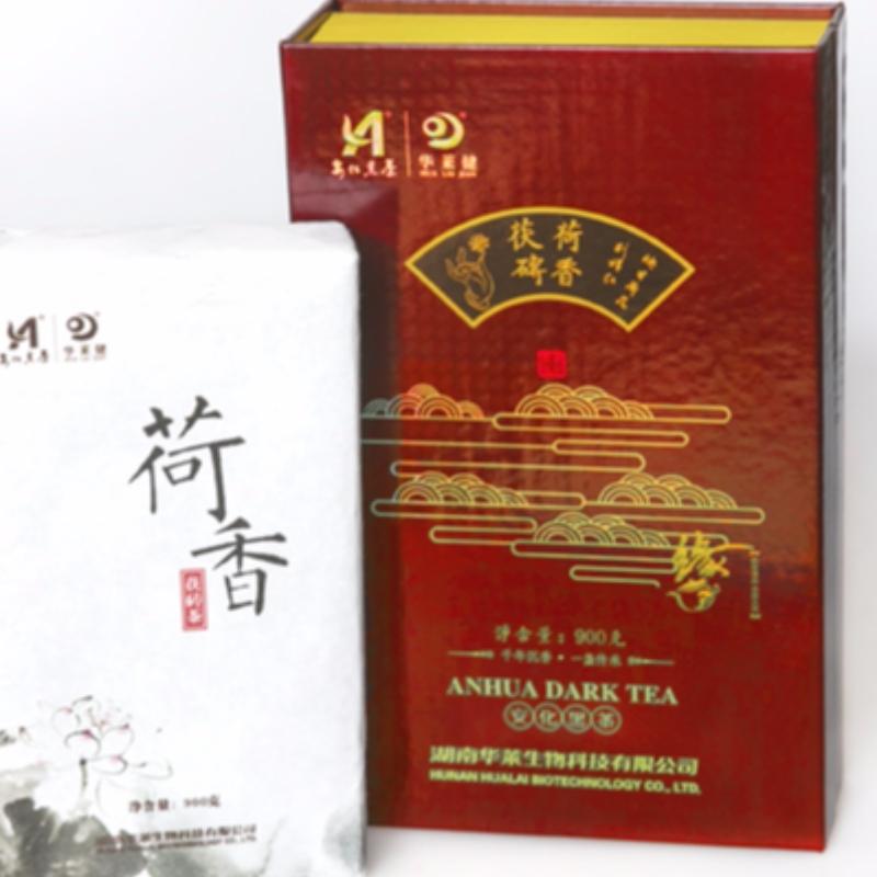 M ชุดโลตัสชา fuzhuan หอมมณฑลหูหนาน anhua ชาดำชาการดูแลสุขภาพ