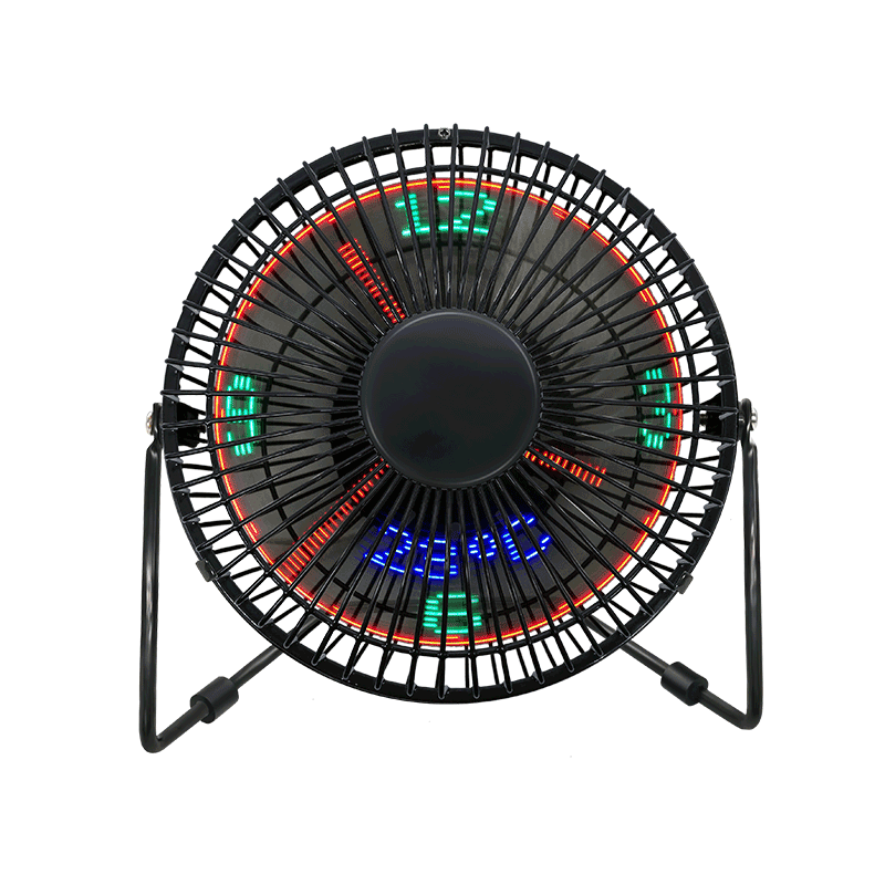 พัดลมตั้งโต๊ะ LED นาฬิกาตั้งโต๊ะพร้อมจอแสดงอุณหภูมิ (6 นิ้ว) 6A